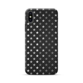 Stars Pattern Black And White iPhone XS Max Case