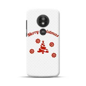 Merry Christmas Snowflake And Tree Motorola Moto E5 Play Case