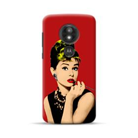 Audrey Hepburn Portrait Mesh Style Motorola Moto E5 Play Case
