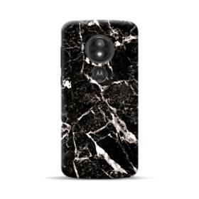 Black Marble With White Veins Motorola Moto E5 Play Case