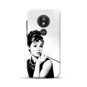 Audrey Hepburn Portrait Vintage Black And White Motorola Moto E5 Play Case