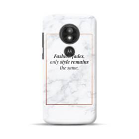 Coco Chanel Quote Fashion Fades Motorola Moto E5 Play Case