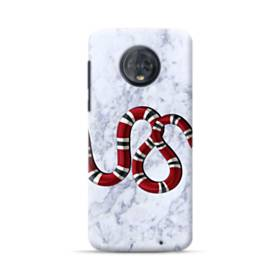 Snake Red Marble Motorola Moto G6 Plus Case