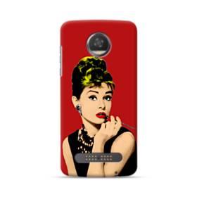 Audrey Hepburn Portrait Mesh Style Motorola Moto Z3 Case