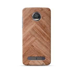 Wood Woodgrain Herringbone Motorola Moto Z3 Case