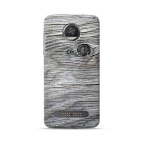 Black Wood Grain Texture Motorola Moto Z3 Case