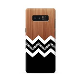 White And Black Chevron With Wood Texture Samsung Galaxy Note 8 Case