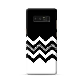 White And Black Glitter Chevron And Blocks Samsung Galaxy Note 8 Case